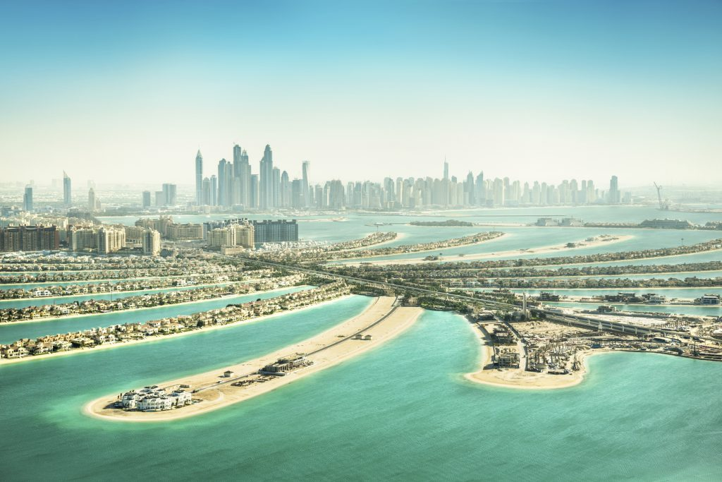 The Palm Jumeirah in Dubai, Dubai, United Arab Emirates